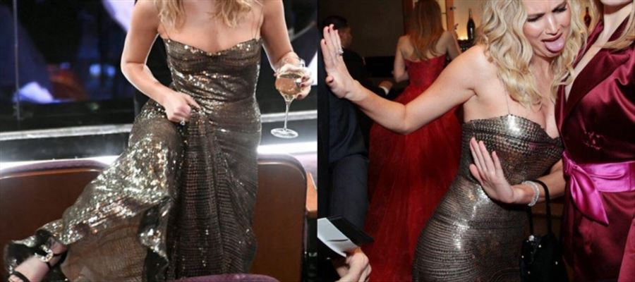 She Climbed Over Chairs while Juggling Wine, Shook her Booty, Laughing out Loud at 'THE OSCARS' - 22 PHOTOS for You!
