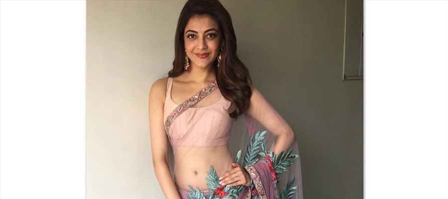 PIC TALK: Kajal Steaming Hot in a Saree