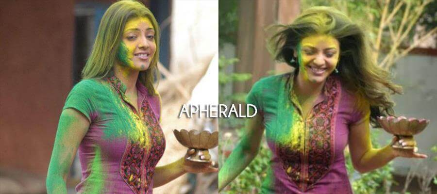 SHOCKING :: Kajal Aggarwal's HOLI Celebration brings her INNER BEAUTY