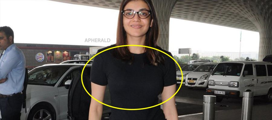 Kajal Aggarwal spotted in Tight Banian exposing her Inner Beauty before Public - PHOTOS INSIDE