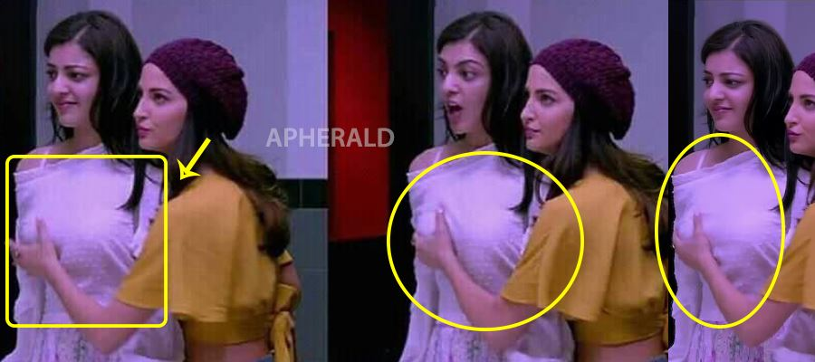 OMG... Kajal Aggarwal's Breasts squeezed - Watch VIDEO and PHOTOS Proof inside