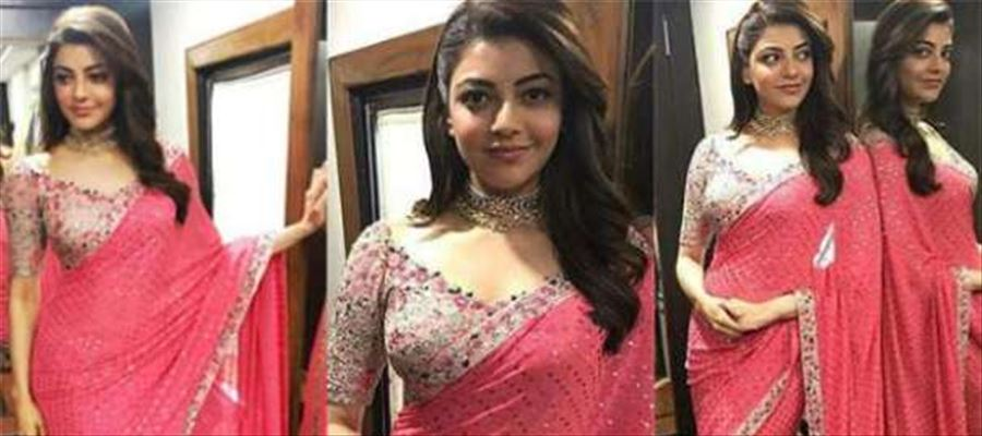 Kajal Aggarwal oozing 'Oomph' in a Sleeveless Night Gown Dress - Photos Inside