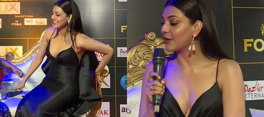 Oops... Camera Man focused on Wrong Area of Kajal Aggarwal and she adjusts herself to hide her Inner Assets