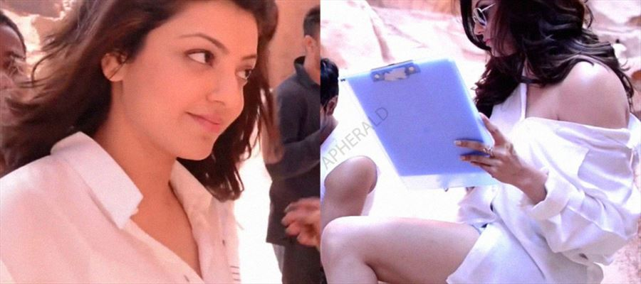 Kajal Aggarwal gets Intimate on the sets while shooting with Producer's son!