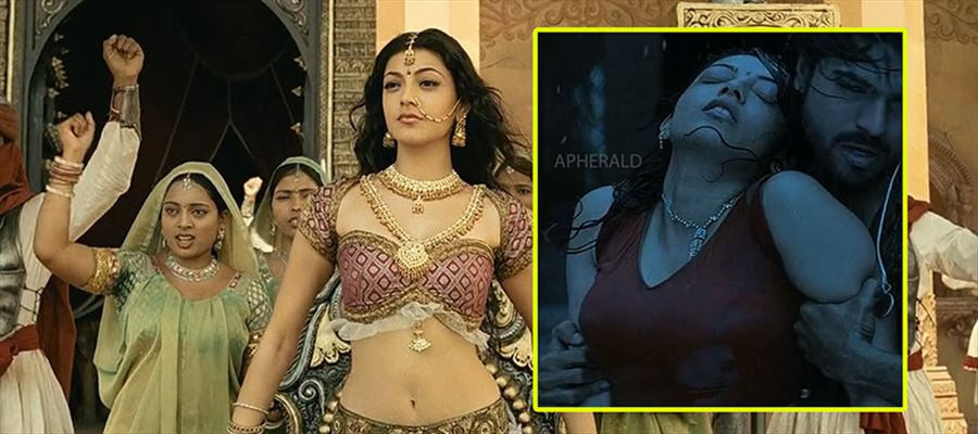 Kajal Aggarwal goes to 'Maghadheera' Princess get up to help 'MEGA PRINCE'