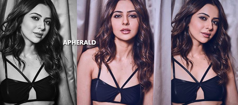 Seducing Hot Photoshoot of Rakul Preet in a Black Brassiere - 'Not-to-be-Missed' Photos Inside