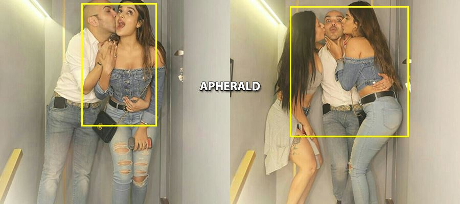 Oops! Nidhi Agerwal gives a 'PASSIONATE KISS' to her Make-Up man - View Photos