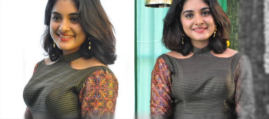 Nivetha Thomas shows her Waistline in a Sleeveless Crop Top and teases our mood - Hot Clarity Pics for You!