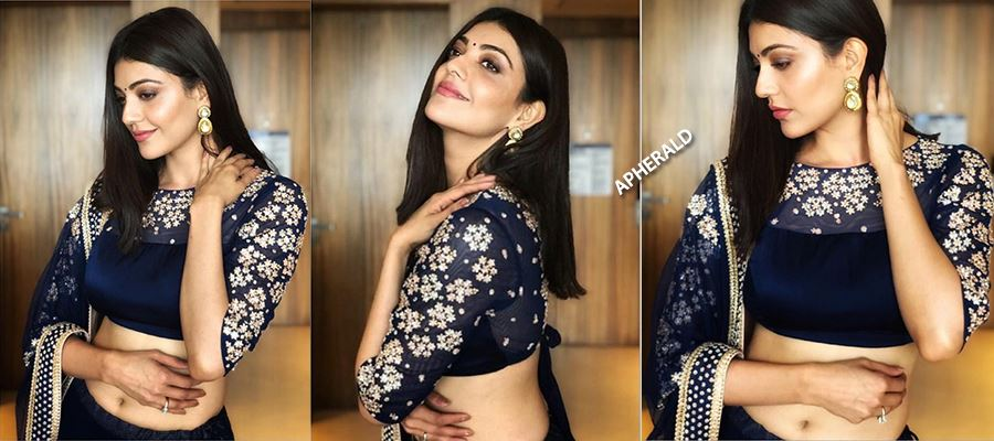 Kajal Aggarwal shows her Tempting Hot Curves, Sexy Waist, and Navel in Lehenga - PHOTOS INSIDE