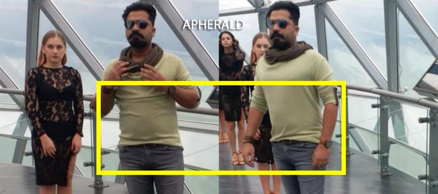 The Tamil Hero who reprises Pawan Kalyan's role is TROLLED for hiding his Pot Belly during shooting