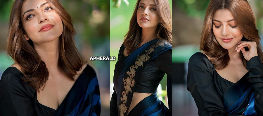 When Kajal Aggarwal Exposes her Cleavage and Hot Curves in Saree - 15 HOT PHOTOS INSIDE