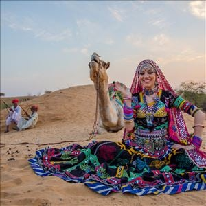 Marta Chandra Kabeliya‬ North Indian Rajasthani Folk and Gypsy Dance