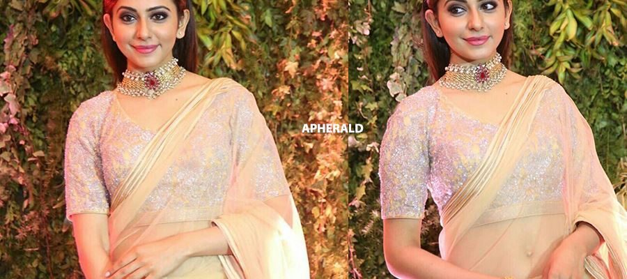 Rakul Preet's Transparent Low-Hip Saree in Public grabs all eyeballs - Don't Miss to see ALL THESE PHOTOS