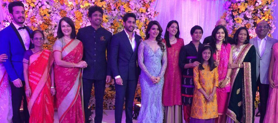 Celebrities gather at #Chaysam Wedding - A huge celebration of Tollywood - Photos Inside