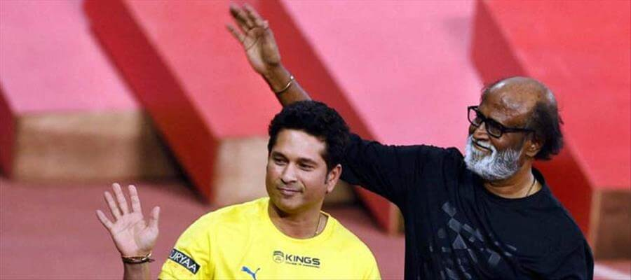 """When """"GOD OF CRICKET"""" called """"SUPER STAR"""" as """"THALAIVA"""" in PUBLIC...!!!"""