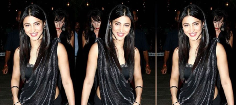 These Photos of Shruti Haasan in Black will 'ERECT your MOOD'