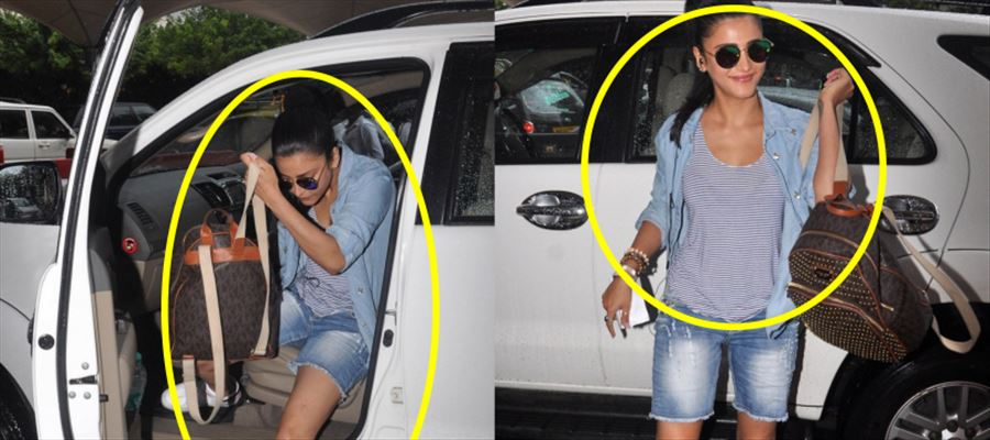 Check out Shruti's latest poses at Airport - Droolworthy!