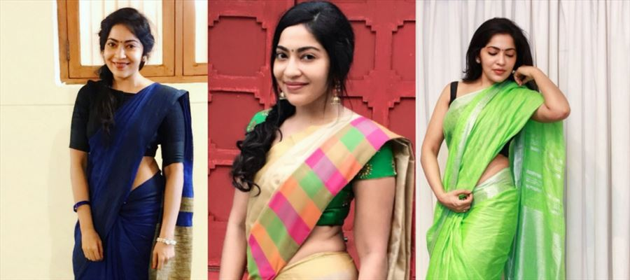 These 10 SPICY HOT Photos of Sexy VJ showing her Tempting Curves in Saree will pump your Blood faster