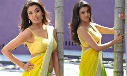 Kajal Aggarwal's Saree Photoshoot from her Early days - 15 Eye-Candy Photos!