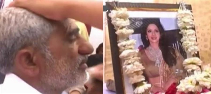 """I am SRI DEVI's Husband"" - This Guy even tonsured his head after her Death - Photos Inside"