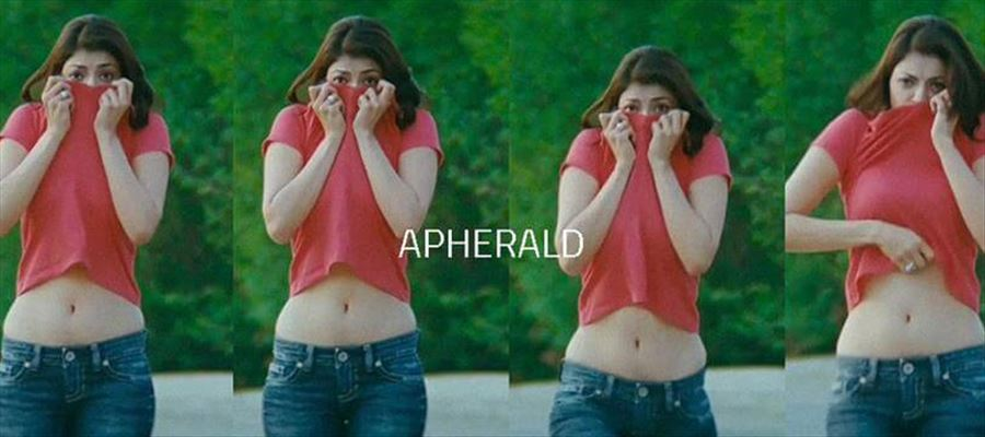 RED HOT Kajal Aggarwal wearing such a Bright Red Costume before everyone - PHOTOS INSIDE
