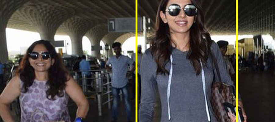 Rakul Preet leaves to London - Her Airport Dress and Looks go Viral
