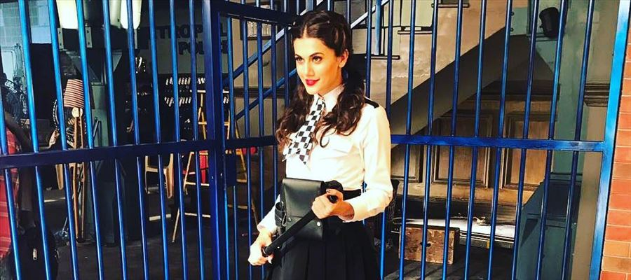 PIC TALK: Tapsee in a London Jail