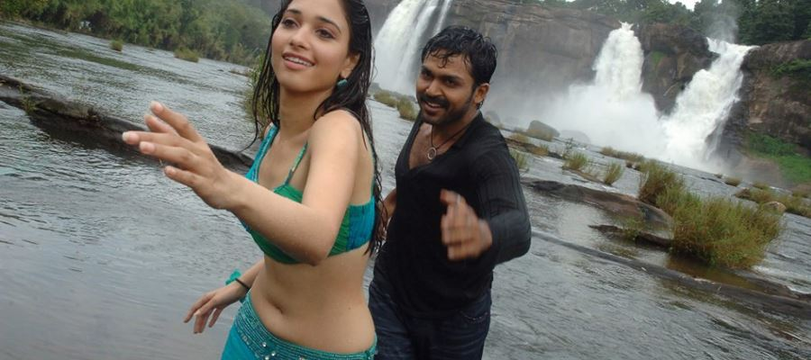 Karthi with a Flop Team and Milky Thigh Beauty!