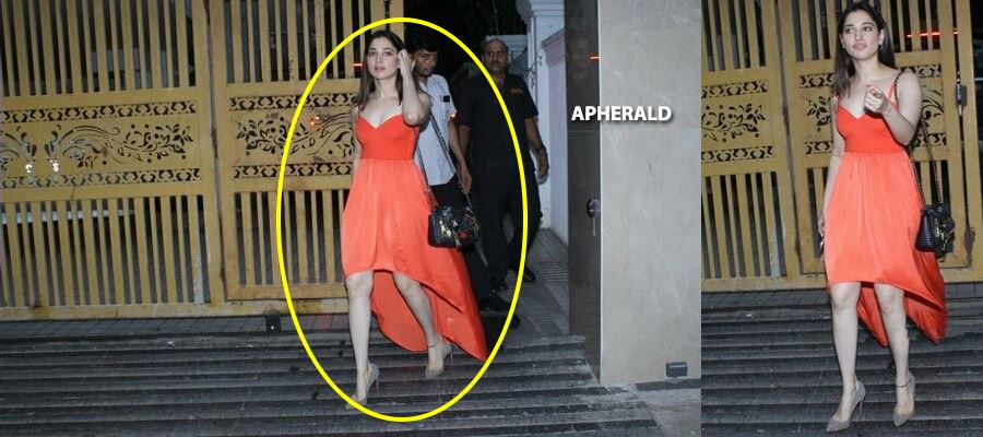 Whaa..tt...?? Can you believe? TAMANNA WALKING OUT OF 'THAT' ACTOR'S HOME IN MIDNIGHT - PHOTOS PROOF INSIDE