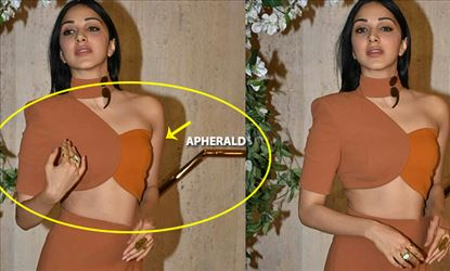 Oops! Kiara Advani Blouse gets Torn at Public and she wears Another color and hides it - 9 Photos Proof Inside