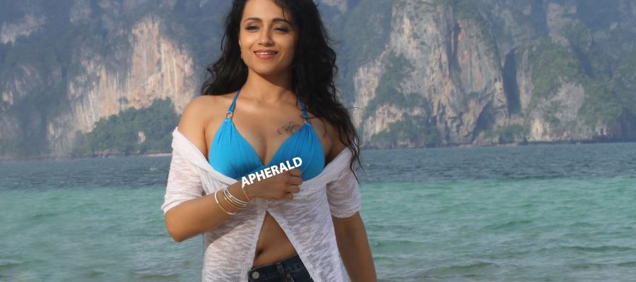 21 UNSEEN RARE HOT PHOTOS of TRISHA in Brassiere and Thighs revealing Shorts Exposing her Sex Appeal