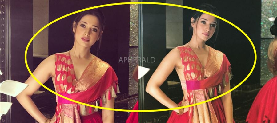 """Why such a Sleeveless in such a sleazy costume Tamanna?"" - Fans mock Milky Beauty - PHOTOS INSIDE"