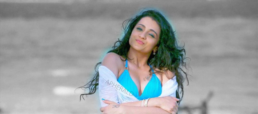 Trisha's thighs grabbed in Public by a leading actor - See these Photos