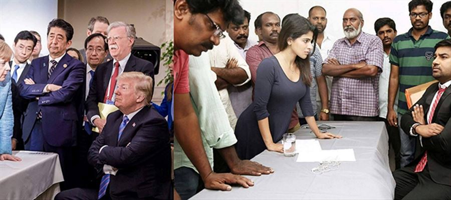 This 'TAMIL' Padam even Mocks USA President Donald Trump - See this Photo yourself... Wake Up Tollywood