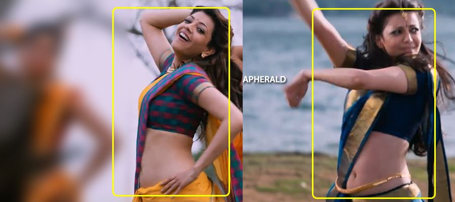 When a fan helped Kajal Aggarwal to Wear Saree at the Shooting Spot...