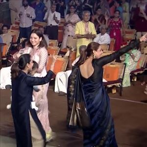 Tamanna and Kajal Aggarwal Dance at Isha Yoga Center