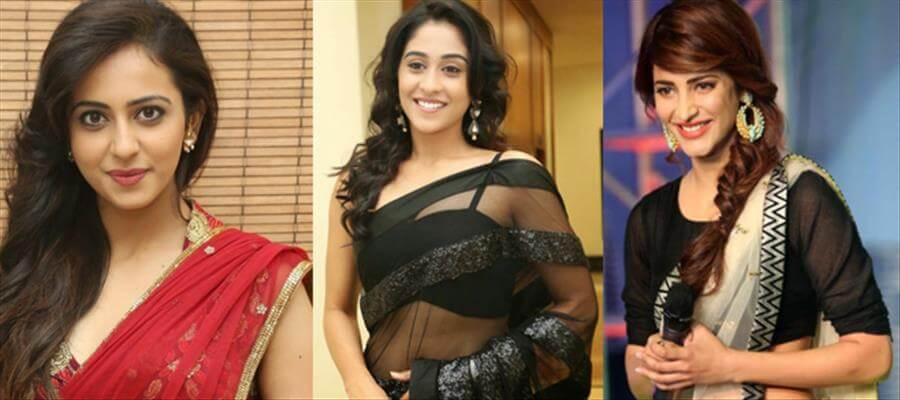 Tollywood DIVAS in Hot transparent Saree Stills which is classy
