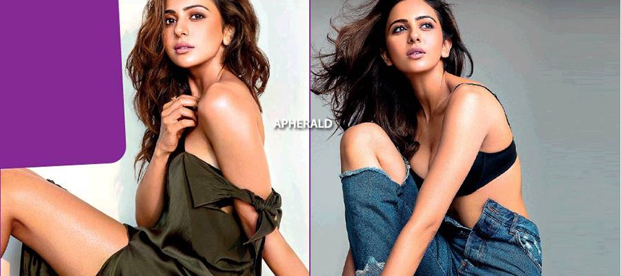 SMOKIN' HOT - Rakul Preet in a Bra and Unzipped Pants exposing her Beauty - ALL HOT PHOTOS INSIDE