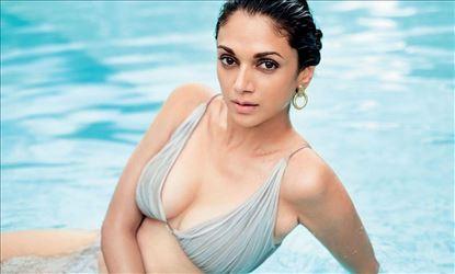Aditi Rao Hydari Recent Hot Cleavage & Bikini Show Photoshoot Stills