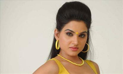 Kavya Singh Hot Photoshoot Stills in Yellow Saree