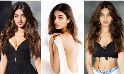 Nidhhi Agerwal Recent Hot Cleavage Show Photoshoot Stills