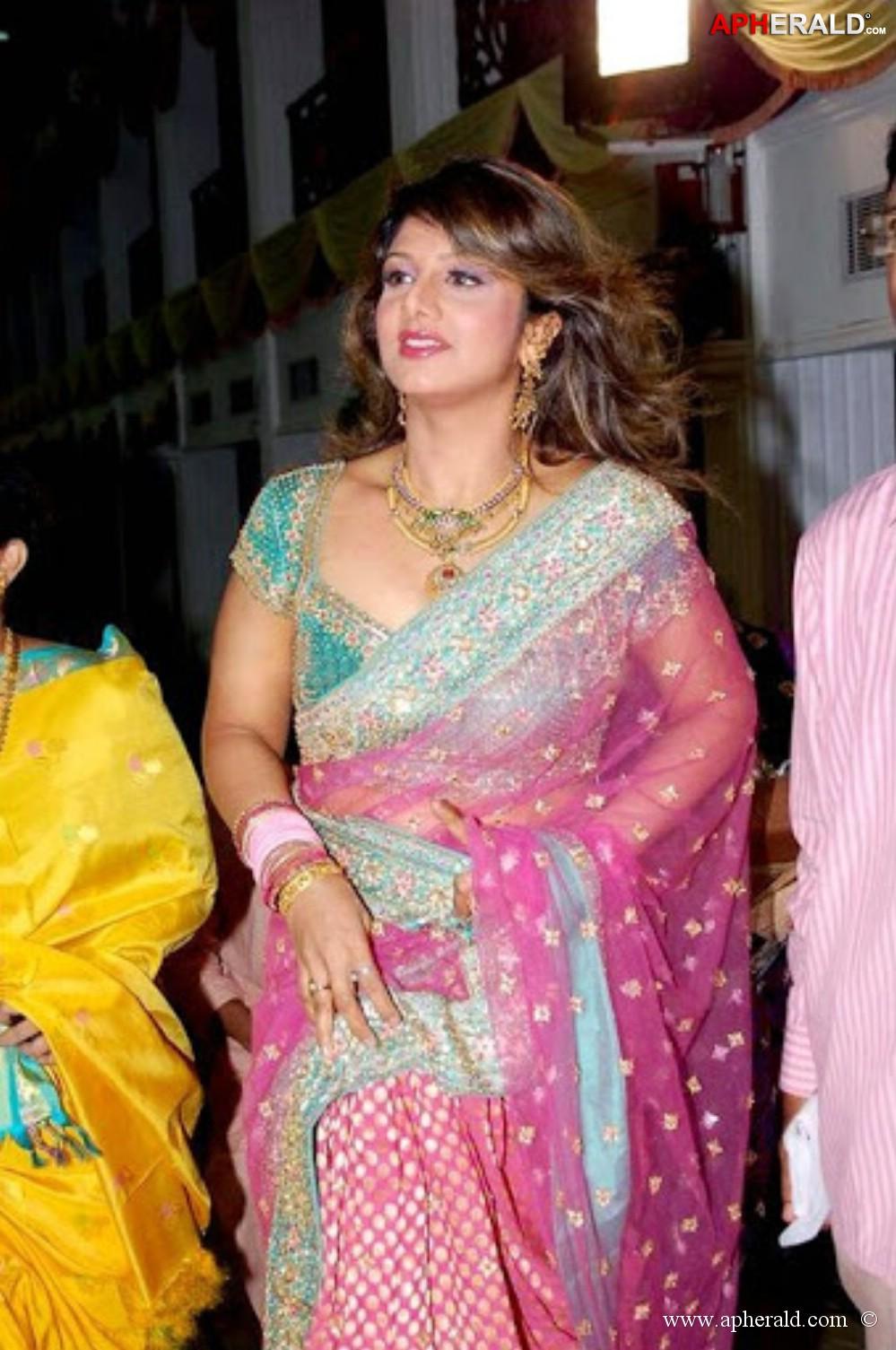 Rambha boob show
