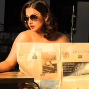 Vidya Balan drops clothes for Photo-Shoot