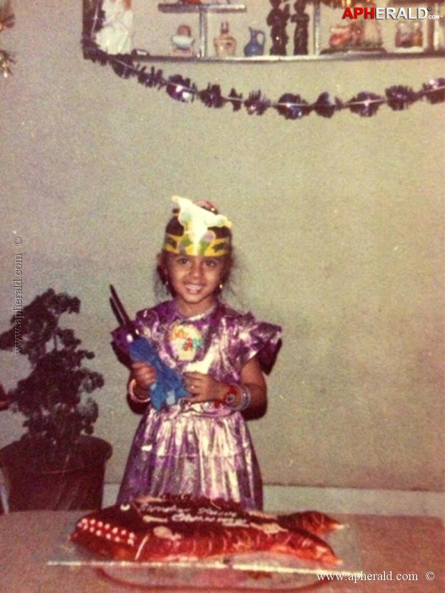 Charmi Kaur Childhood Pics
