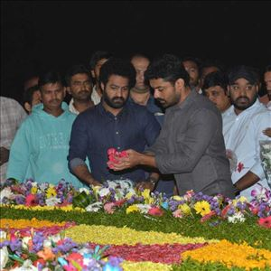 Jr NTR and Kalyan Ram at NTR Ghat