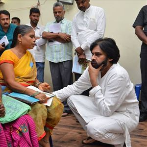 Pawan Kalyan meeting with Chronic Kidney disease sufferers from Uddanam