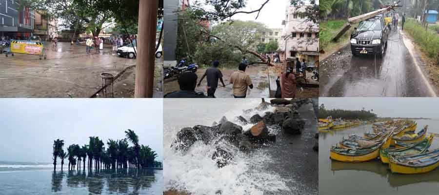 Pethai Cyclone Effect Photos In Andhra Pradesh