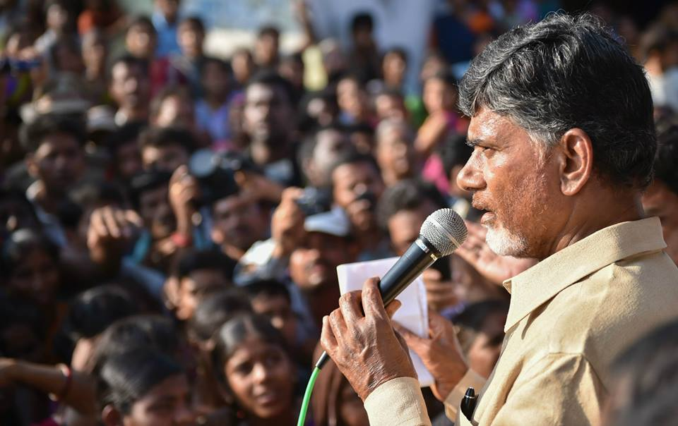 Shri NCBN visiting cyclone affected areas