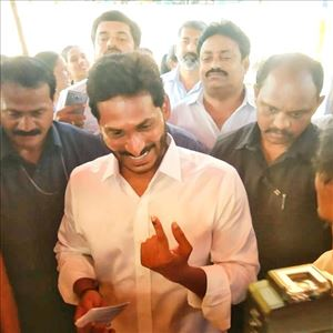 YS Jagan Mohan Reddy Vote Casting