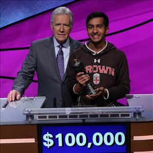 Brown University First year student wins Jeopardy College Championship